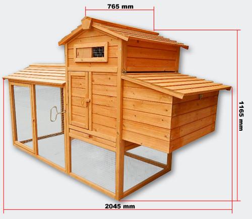 Holz-Hühnerhaus inkl. Auslaufgitter