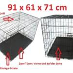 Hundekäfig mit Einlegeschale für mittelgrosse bis grosse Hunde