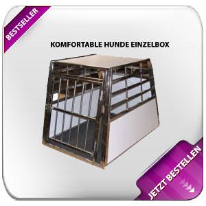 Komfortable Hunde Einzelbox